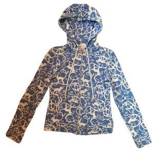 LILLY PULITZER terrycloth monkey hoodie medium